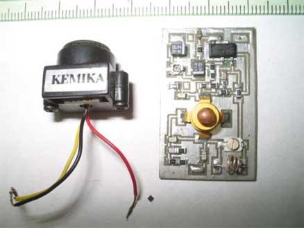 Схема с сайта www.vrtp.ru.  При подключении разных камер нужно было лишь немного подстроить чувствительность...